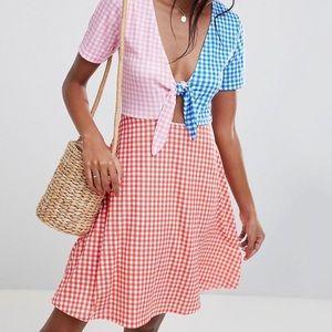 ASOS Design Petite Skater Dress Gingham